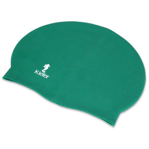 Wholesale Green Soft Stretch Adult Silicone Swimming Cap pictures & photos