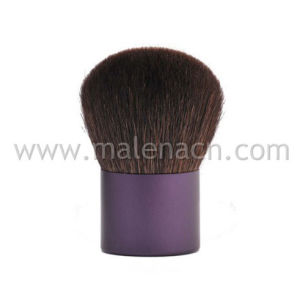 Kabuki Brush with Purple Ferrule in Natural Hair pictures & photos