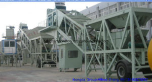 Hongda Good Quality 40m3/H Mobile Concrete Batching Plant pictures & photos