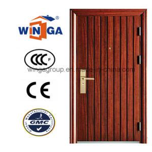 Classic Villa New Design of Steel Security Metal Door (W-S-25) pictures & photos