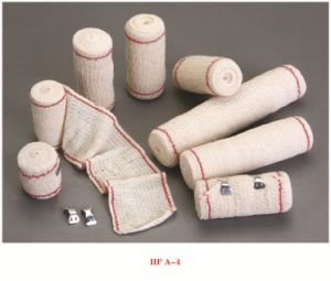 High Quality Red (blue) Thread Elastic Crepe Bandage with CE &ISO pictures & photos