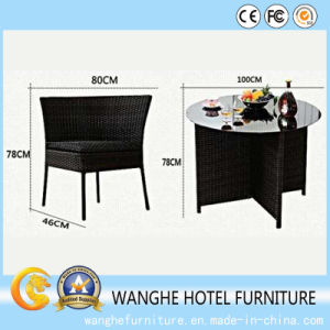 Popular Rounded Outdoor Patio Rattan Antique Furniture Dining Set pictures & photos