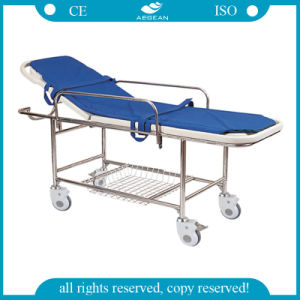 AG-Hs013 Stainless Steel Frame Patient Transport Stretcher pictures & photos