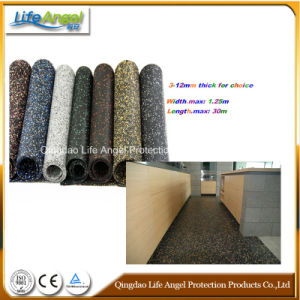 Sound Absorption Rubber Mat, Colorful Rubber Flooring in Roll