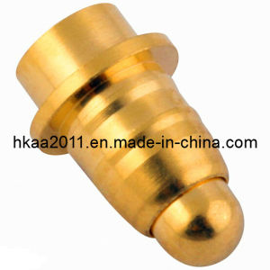 Custom Machining Brass Gold Plated Spring Loaded Test Pogo Pin Connector pictures & photos