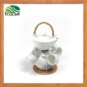 Bamboo Iron Stand Ceramic Drink Tea Coffee Set pictures & photos