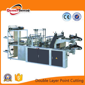 Double Layer T Shirt Cutting Rolling Bag Making Machine pictures & photos