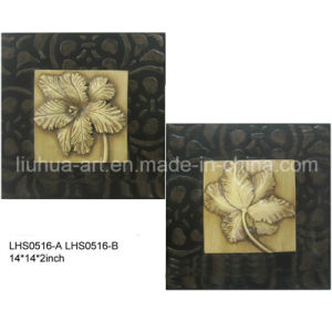 Abstract Gold Foil Flowers Oil Painting by Handmade (LHS0516-A-B) pictures & photos