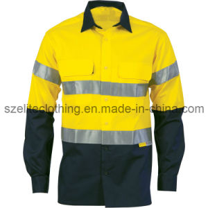 Man Cotton Drill En471 Cargo Shirts (ELTHVJ-218) pictures & photos