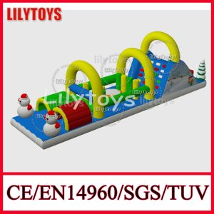 2015 Snowman New Colorful 0.55mm PVC Inflatable Obstacle for Kids (Lilytoys-New-005)