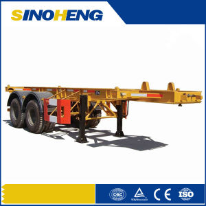 China 30ton 2 Axles Flat Bed 20ft Container Trailer pictures & photos