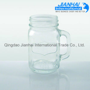 Glass Mason Jar with Handles Wholesale pictures & photos