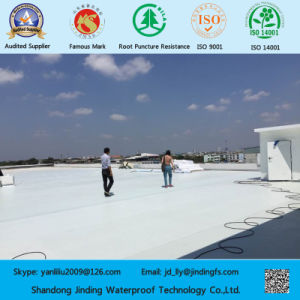 1.2mm Vinyl Tarp Roof Cover PVC-White/Grey pictures & photos