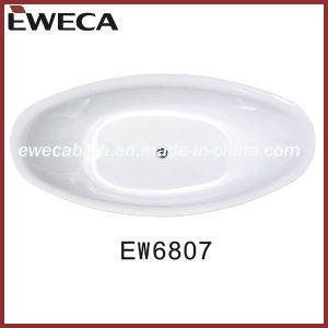 Double Slipper Freestanding Acrylic Soaking Tub (EW6807)