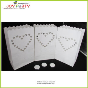 Flameproof Paper Candle Bags for Wedding Ceremony