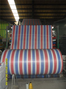 Colorful Strip PP Woven Tubular Roll pictures & photos