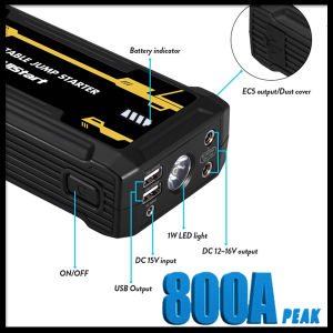 16800mAh Portable Emergency Battery Pack 800A Peak Current Battery Charger Power Bank Car Jump Starter pictures & photos