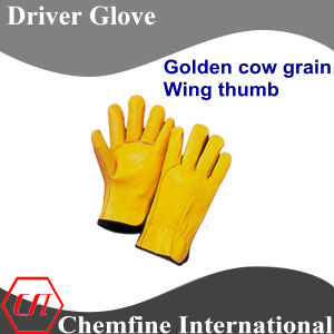 Golden Cow Grain, Wing Thumb Leather Driver Glove pictures & photos