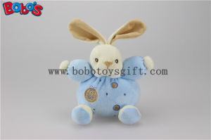 "5.9"" Lovely En 71 Approved Velvet Soft Kids Toy Blue Rabbit Bunny with Ring Rattle pictures & photos"