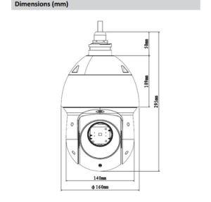 Dahua 2MP 25X Starlight IR PTZ Security Camera (SD49225T-HN) pictures & photos