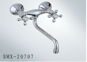 Double Handle Brass Faucet