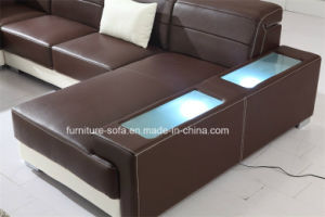 Office Furniture Home Furniture Brown Corner Sofa (SF103)