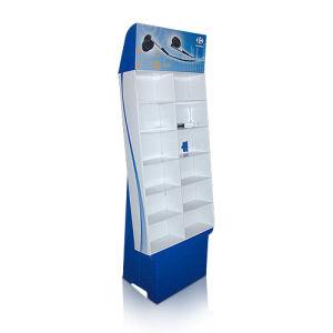 Cardboard Floor Standing Display Units, Pop Display Shelf for Earphone pictures & photos