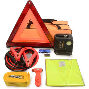 8PCS Emergency Car Breakdown Kit with Inflater