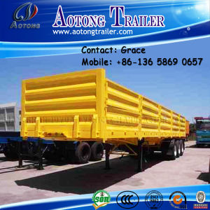 China Manufacturer Tri Axles Bulk Cargo Wall Side Board / High Wall Semi Trailer pictures & photos