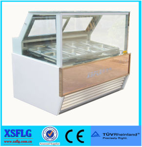 Hot Sale Kenya Straight Glass Ice Cream Display Showcase pictures & photos