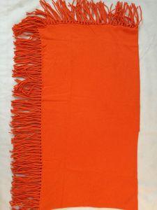 Cashmere Cotton Blend Fringe Poncho Shawl pictures & photos