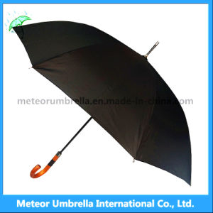 Outdoor Classic Strongest Black Straight Golf Umbrella for Sale