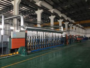 Gas Heating Continuous Mesh Belt Conveyor Heat Treatment Furnace pictures & photos