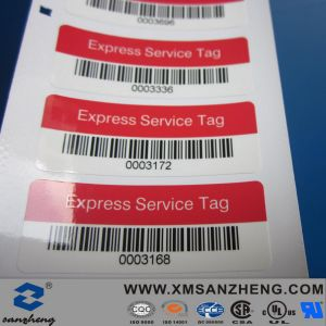 Express Service Series Number Barcode Sticker (SZ14001) pictures & photos
