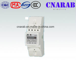 Single-Phase Two-Wire Electronic DIN-Rail Active Energy Meter (2-Pole, Cyclometer Display) pictures & photos
