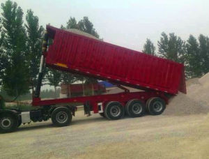 10 Meters New Type Flat Dump Semi Trailer pictures & photos