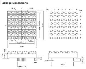 2.3 Inch 8X8 Single Color LED Lamp DOT Matrix pictures & photos