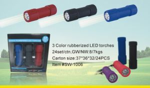 9LED Rubber Flashlight (sw-1006)