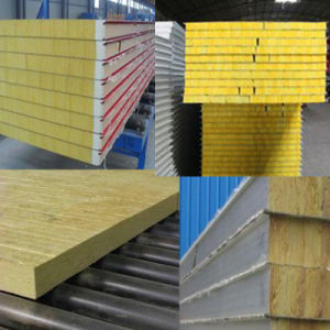 China rock wool glass wool fireproof insulation roof panel for Steel wool insulation