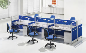 Modern Straight Work-Station with 6 Person Seats (SZ-WS001) pictures & photos