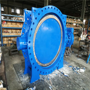 Eccentric Flanged Butterfly Valve pictures & photos