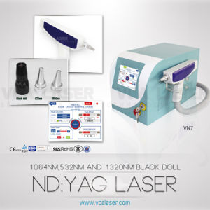Long Pulse ND YAG Laser Tattoo Removal Laser, Three Wavelength 1320nm/1064nm/532nm, Beauty Salon Equipment (VN-7) pictures & photos