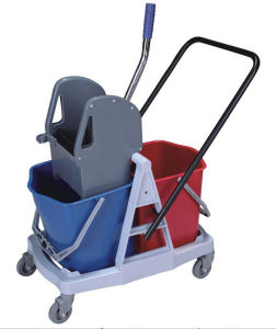 2-Bucket Down-Press Wringer Trolley (YG-076) pictures & photos