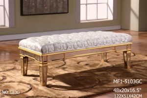 Special Rectangle Bed Bench with Decorative Mirror pictures & photos