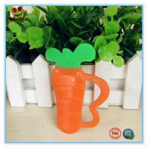 Dummy Carrot Silicone Teether for Baby Teething pictures & photos