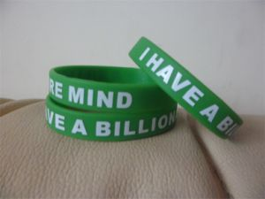 High Quality Customized Silicone Wristband with Logo for Events P031008