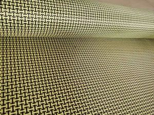 Width One Meter Yellow and Black Carbon Fiber
