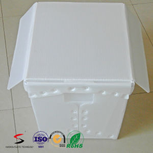 Nestable Tote Corrugated PP Coroplast Box with Ultrasonic Welding pictures & photos