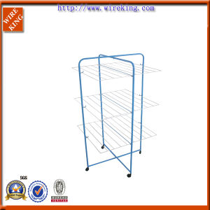 3tiers Metal Wire Clothes Drying Tower Rack (108801)