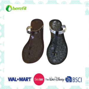 PVC Injection Shoes, Metallic Slippers pictures & photos